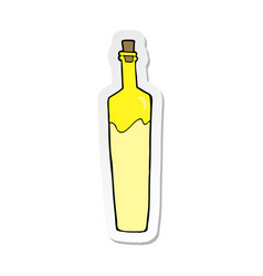 Sticker of a cartoon posh bottle vector
