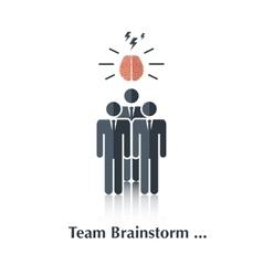 Team brainstorm vector