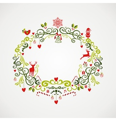 Vintage Christmas elements mistletoe design EPS10 vector