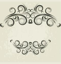 vintage frame elements vector image