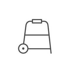 Walking frame line outline icon vector