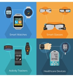Wearable Technology Set vector image