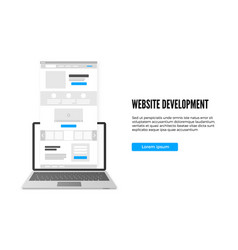 Website development concept landing page business vector