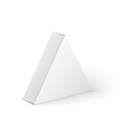 Packaging template triangle vector images over 310 white product triangle package box mock up vector maxwellsz