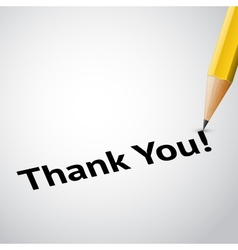 write text thank you vector image