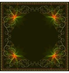 Decorative ornamental luxury frame vector image