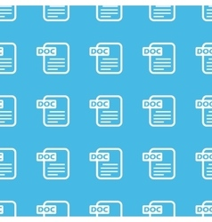 Doc file straight pattern vector image vector image