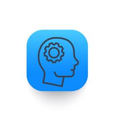 gear in head line icon vector image