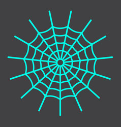 spider web line icon halloween and scary vector image