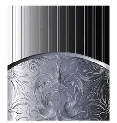 Vintage Background Antique Victorian Silver Orna vector image vector image