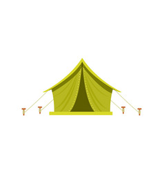 adventure camp tent icon isolated vector image