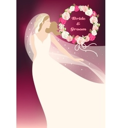 Bride and roses vector image