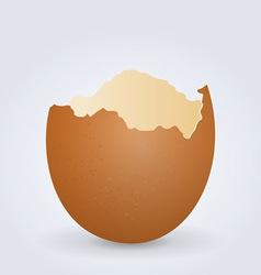 broken egg shell vector image vector image