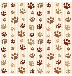 brown footprints seamless pattern vector image