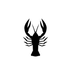 Lobster icon flat vector