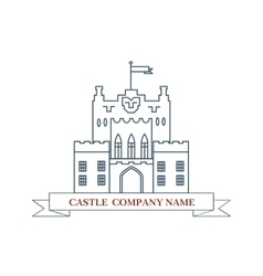 castle Perfect logo for luxury real estate vector image