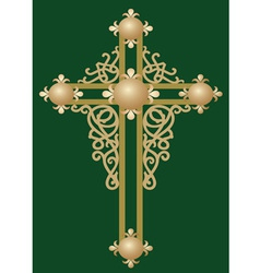 Christian Holy cross with ornament vector image