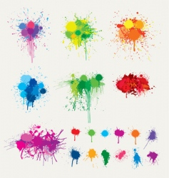 Colorful splats vector