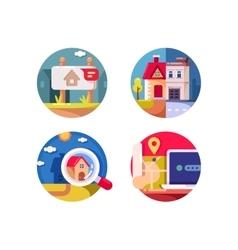 Real estate market vector image vector image