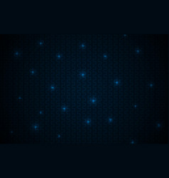 Black abstract background with blue lines neon vector