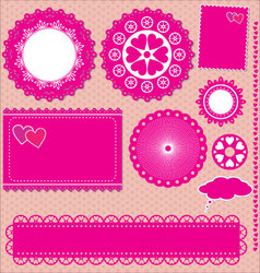 Image of set lace frames vector image