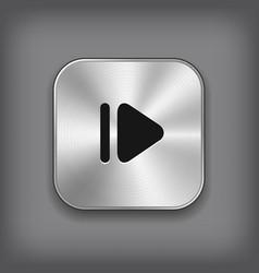 Media player icon - metal app button vector