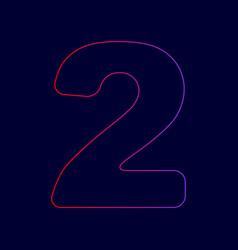 number 2 sign design template elements vector image