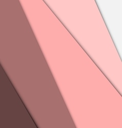 Pink overlap layer paper material design vector image