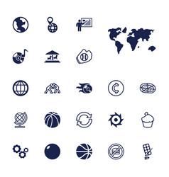 22 round icons vector