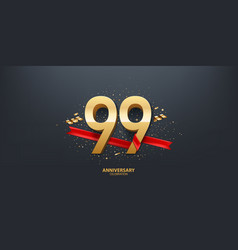 99th year anniversary background vector
