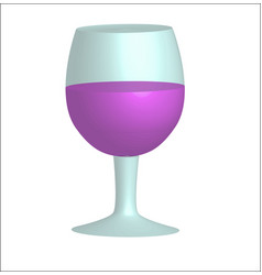 a glass of red wine on a white background organic vector image