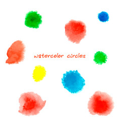 abstract watercolor circles vector image