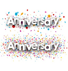 Anniversary banners set vector image