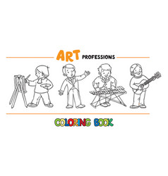 Art professions coloring book vector