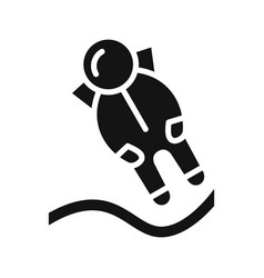 Astronout landing icon vector