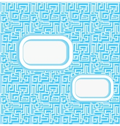 background with a labyrinth and a place for posti vector image