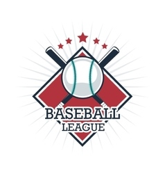 Ball and Bat of Baseball Sport design vector image