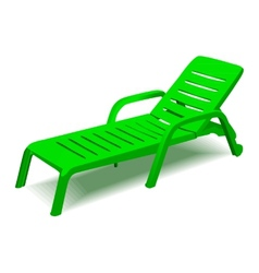 Beach chair with sun symbol on map pointer vector image