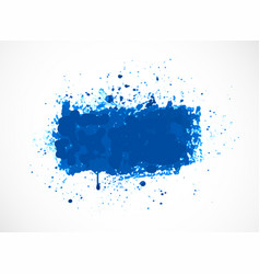 Big bright blue grunge splash on white background vector