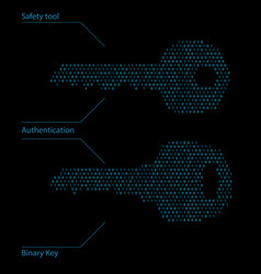 Binary code password safety tool vector