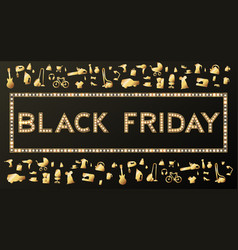 black friday sale background on white discount vector image