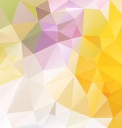 Bright yellow abstract polygon triangular pattern vector