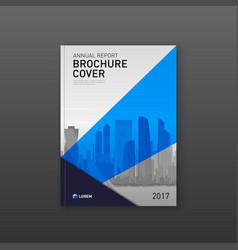 Brochure cover design template for investment vector