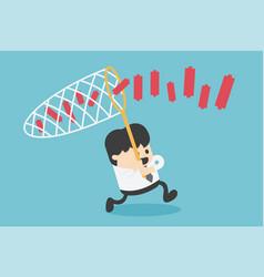 business concept businessman chasing partner vector image
