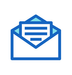 business email filled line icon blue color vector image