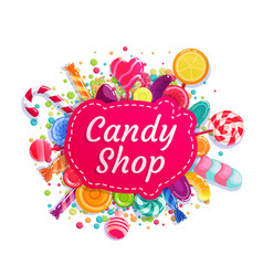Candy shop trade store company advertising vector