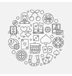 Casino gambling round vector image
