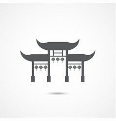 chinese gates icon vector image