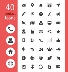 Contact web icons telephone home address email vector