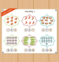 Counting object for kids - Education worksheet vector